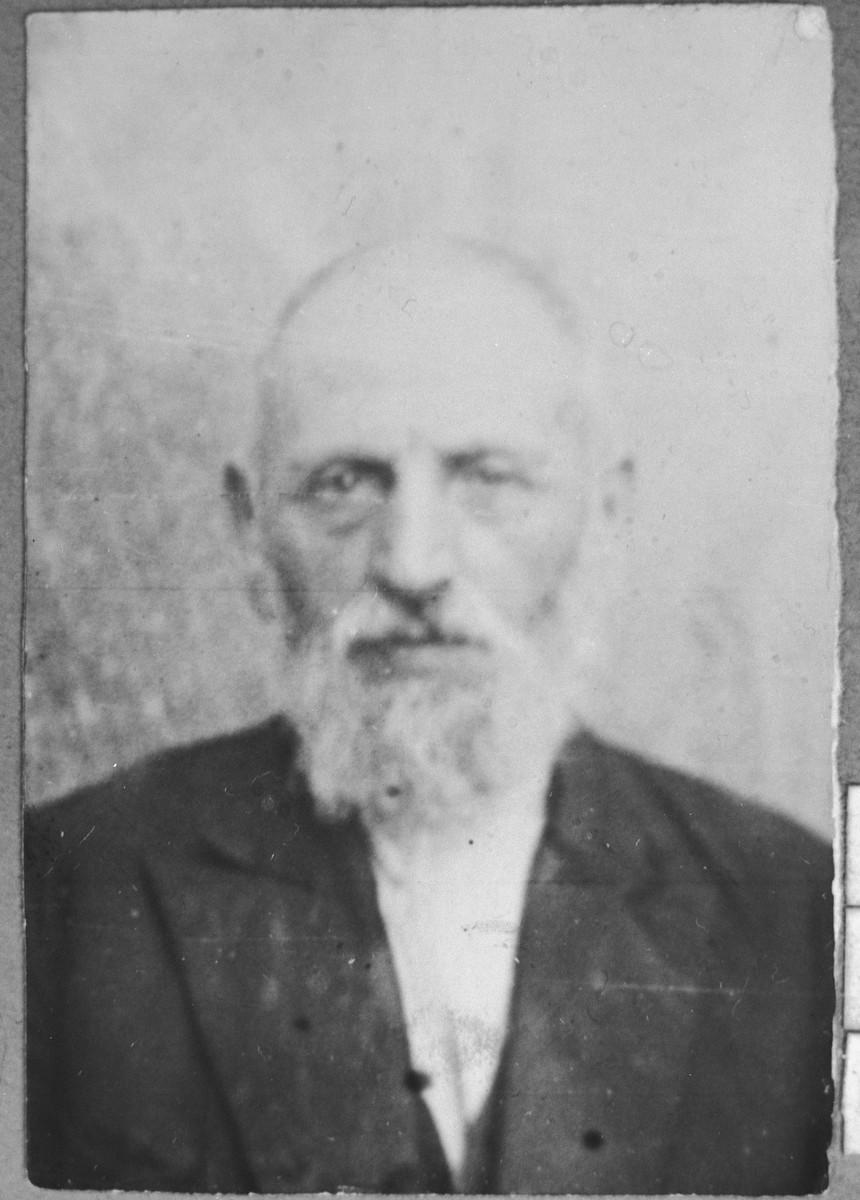 Portrait of Bohor Pesso, son of Isak Pesso.