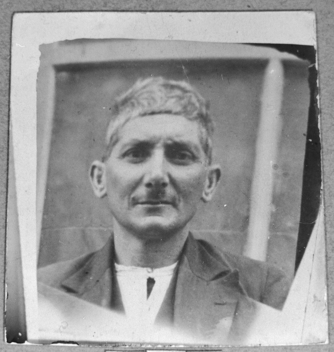 Portrait of Peris Pardo.  He was a fruitgrocer.  He lived at Zmayeva 33 in Bitola.