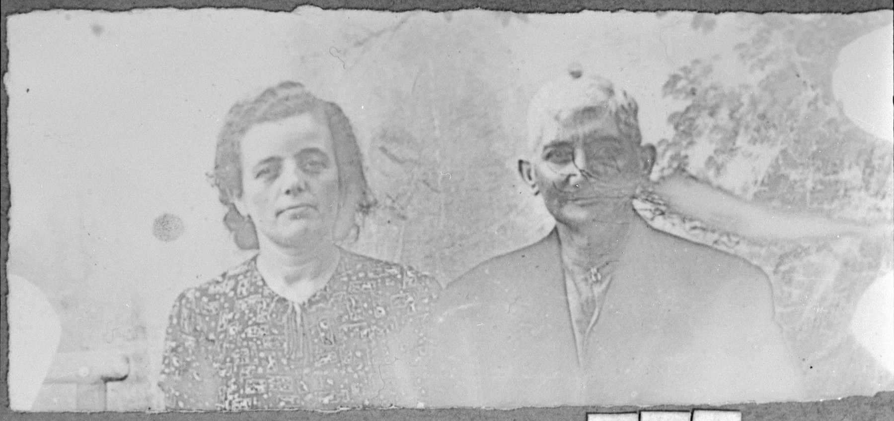 Portrait of Peris Pardo and his wife, Luna.  Peris was a fruitgrocer.  They lived at Zmayeva 33 in Bitola.
