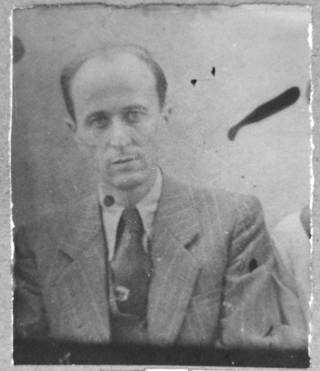 Portrait of Samuel Pardo.  He lived on Sremska in Bitola.