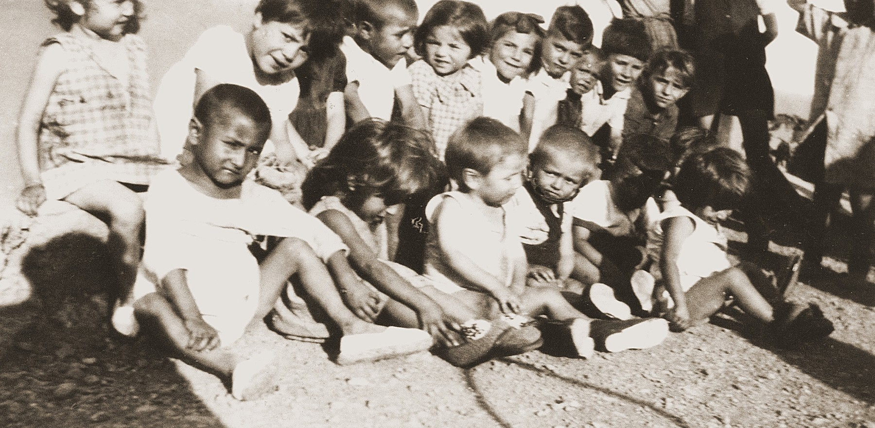 Children in the nursery of the Rivesaltes detention camp.