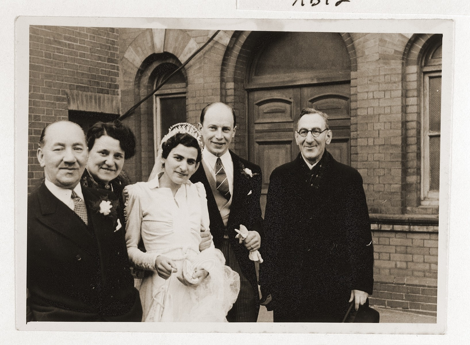 Wedding of Oskar and Gwen (Verat) Blechner in London.