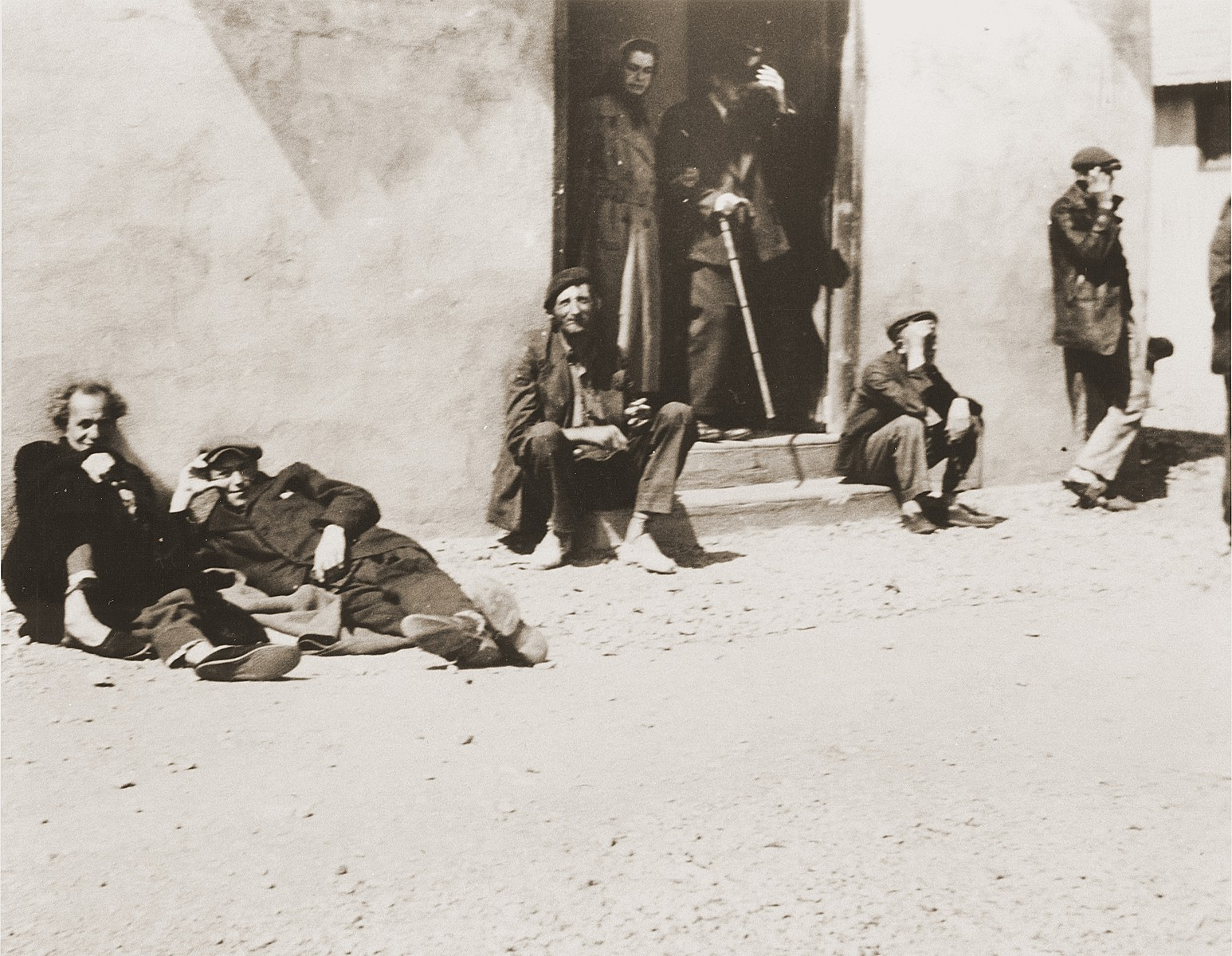 Jews await deportation from Rivesaltes.  [Original caption by the donor.]