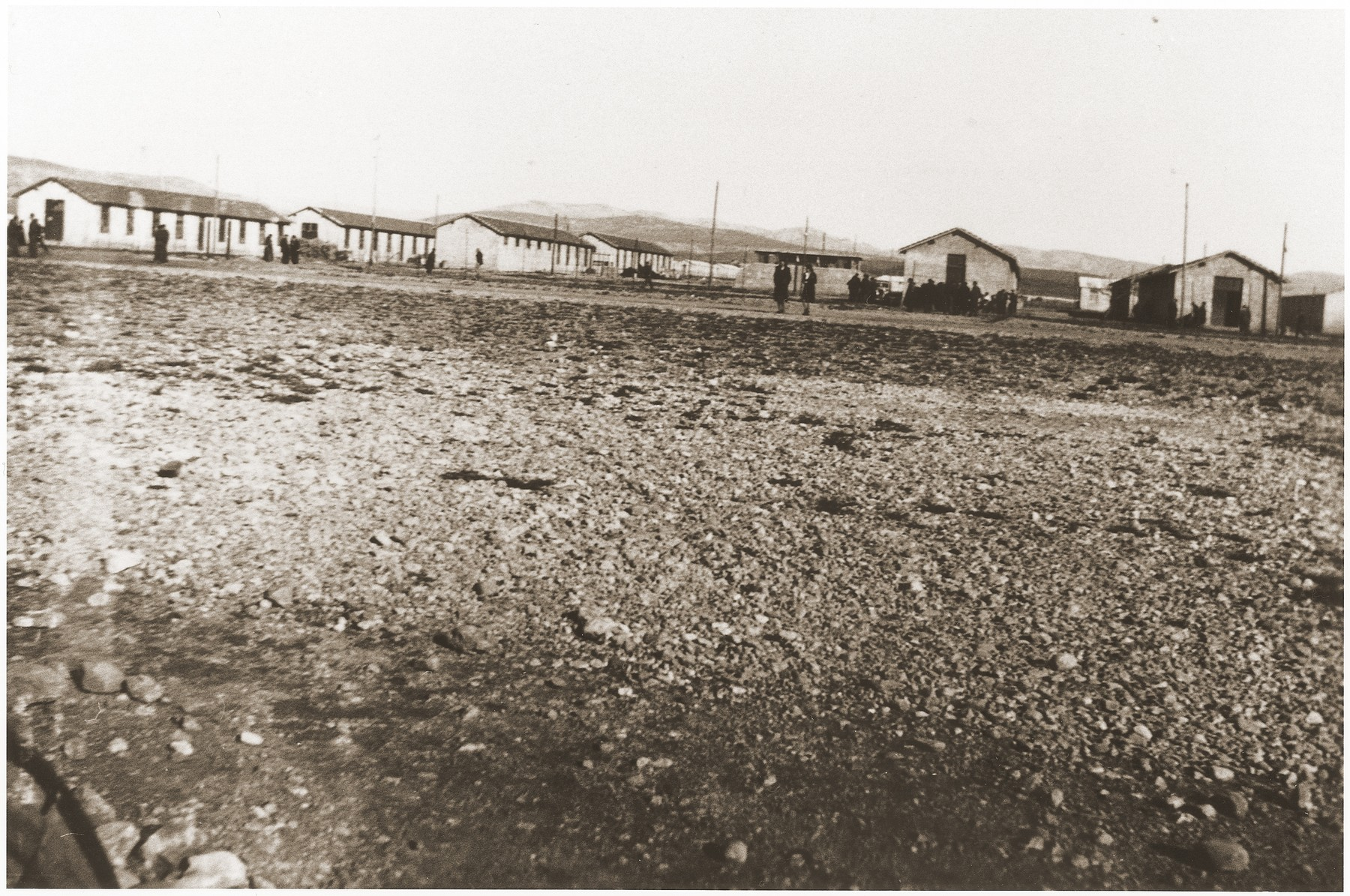 View of the Rivesaltes internment camp.
