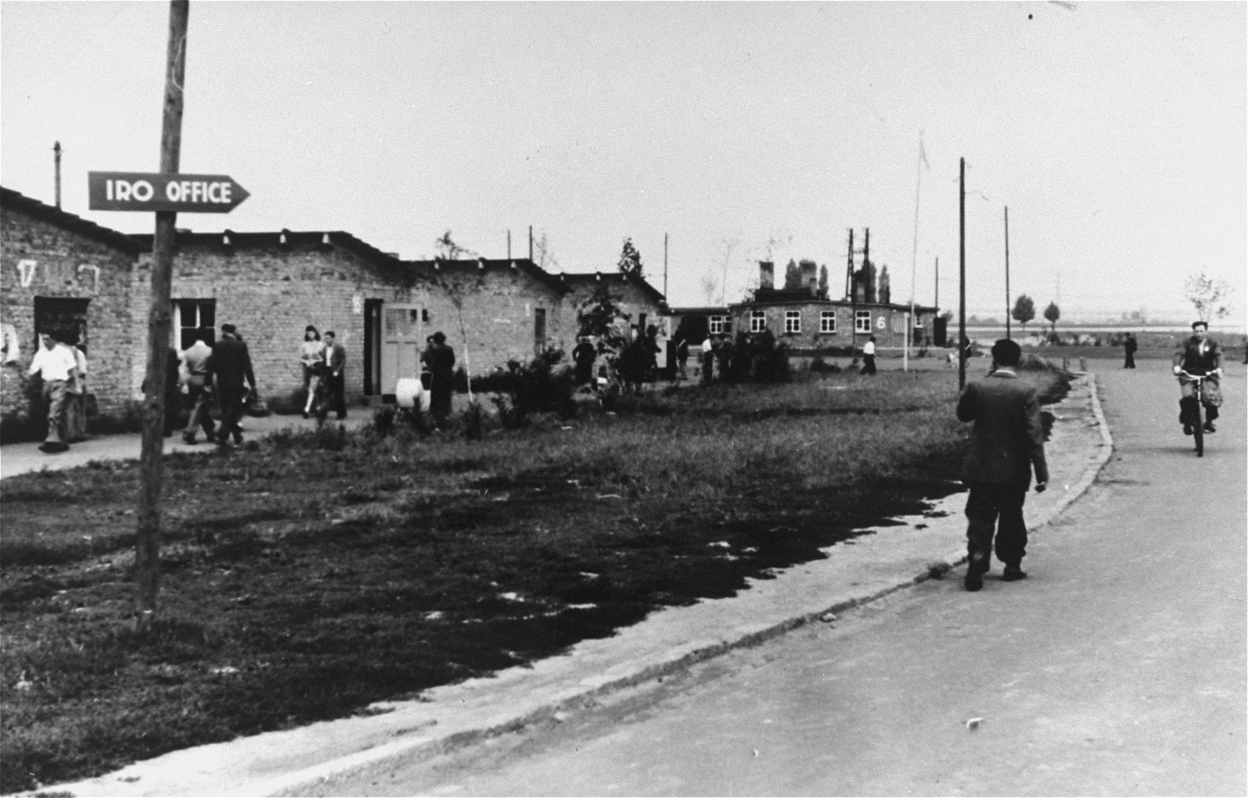 General view of the Zeilsheim displaced persons'  camp.