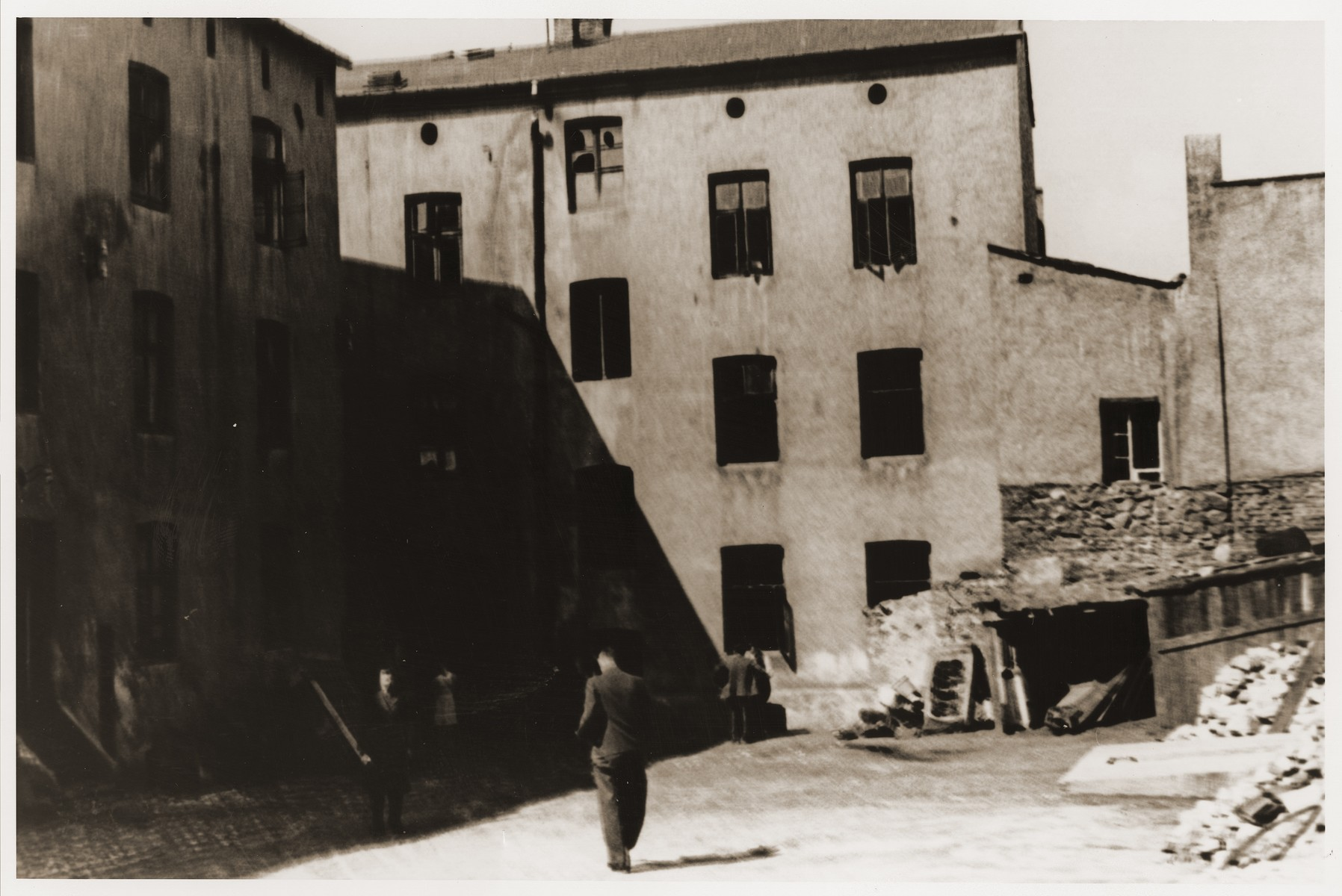 View of the Kamionka/Srodula ghetto.