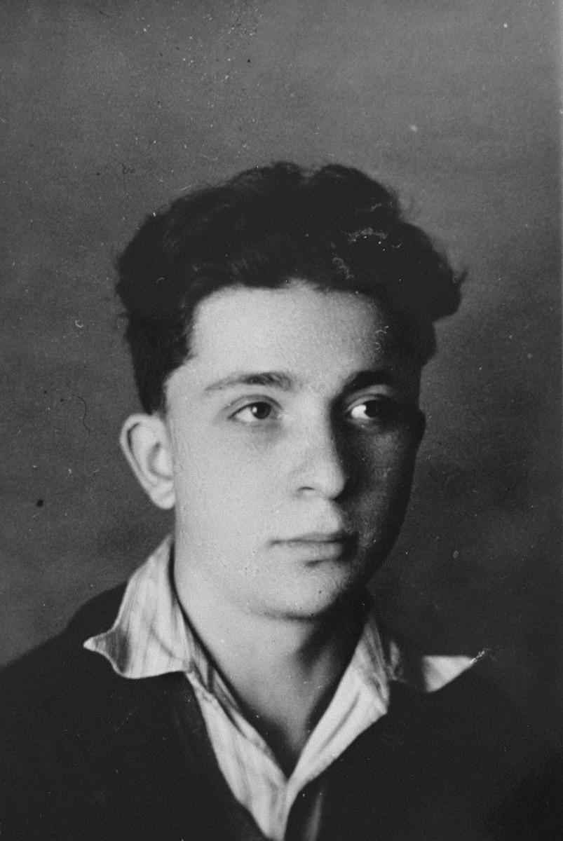 Portrait of a Jewish boy living in hiding at the Les Grillons children's home in Le Chambon during the German occupation of France.  Pictured is Jean Spiegel, who lived under the alias Jean Siroit.  Jean accompanied Peter Feigl from Le Chambon to Figeac, but his fate is unknown.