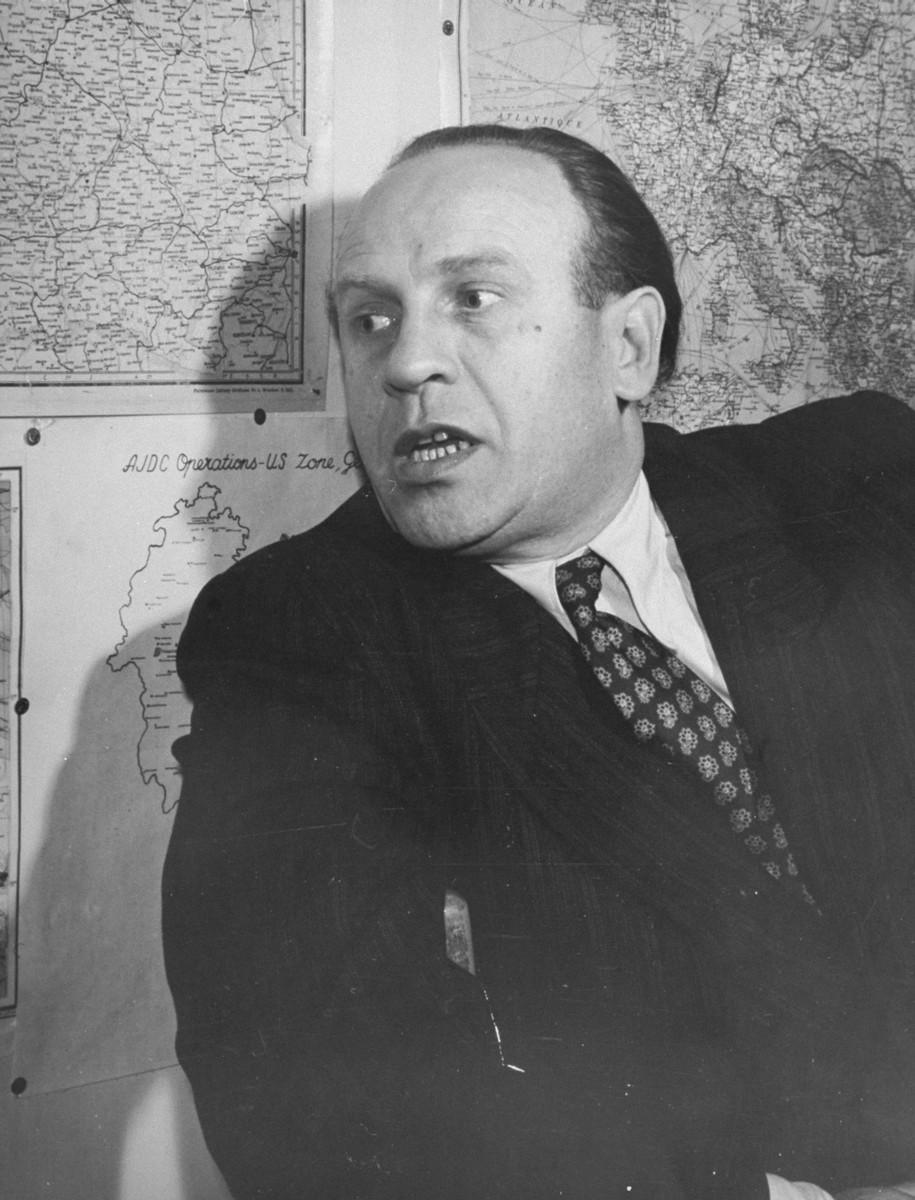 Oskar Schindler in Paris in 1949.