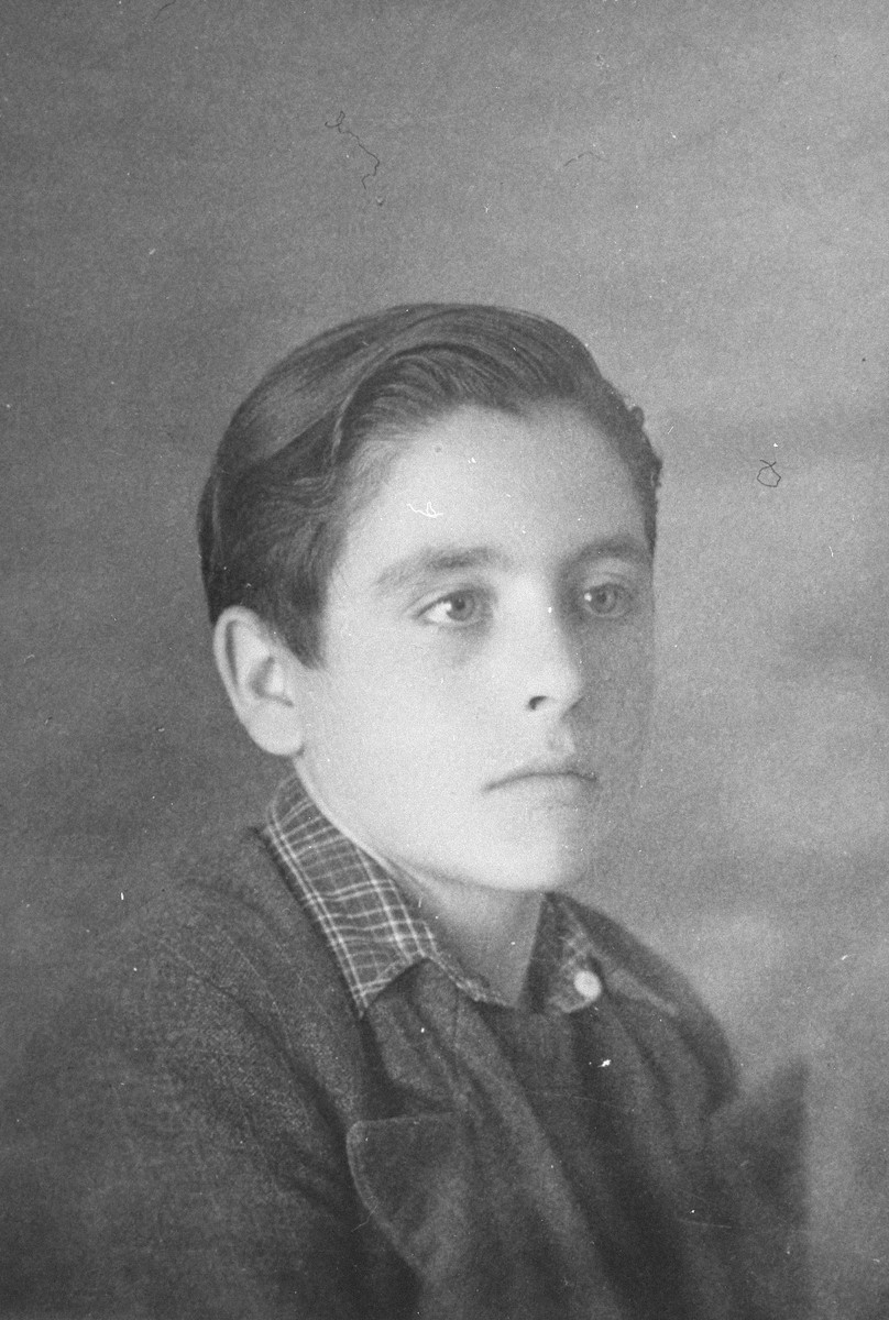Portrait of a French boy named Amede Dutry, who was living at the Les Grillons children's home in Le Chambon during the German occupation of France.