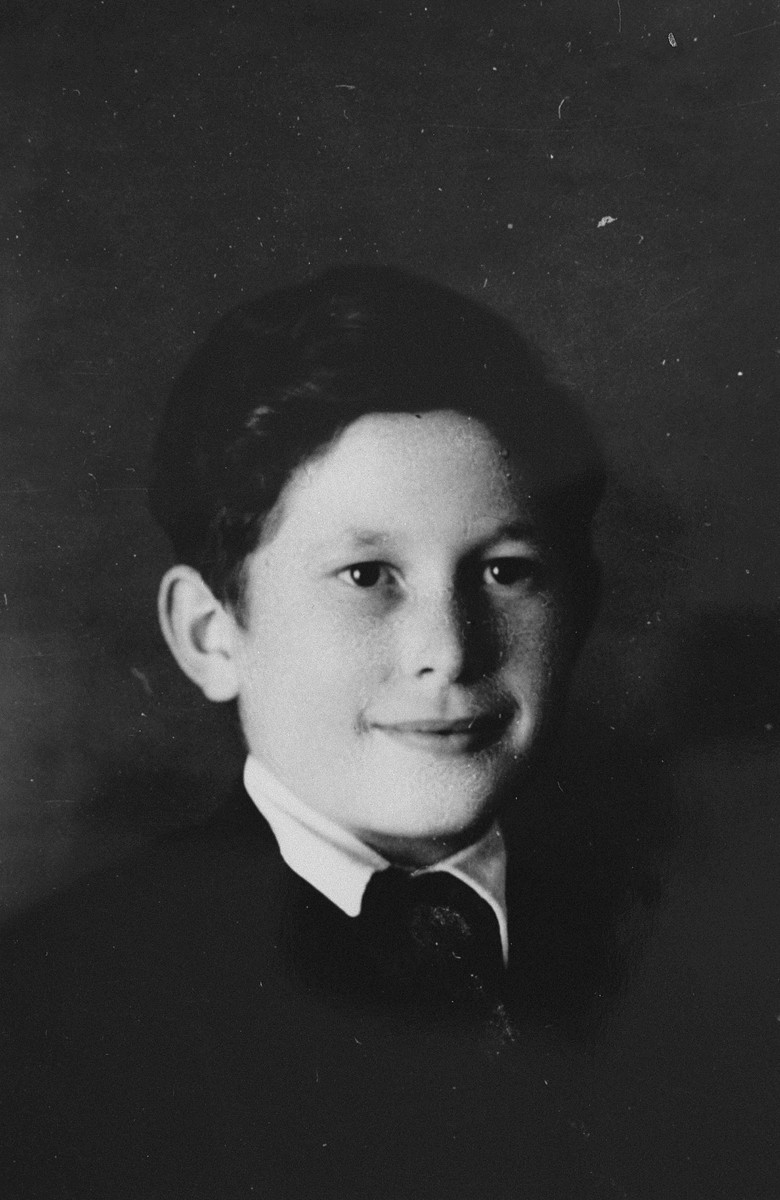 Portrait of an Austrian Jewish boy living in hiding at the Les Grillons children's home in Le Chambon during the German occupation of France.  Pictured is Joseph Wolf.  Joseph accompanied Peter Feigl from Le Chambon to Figeac.