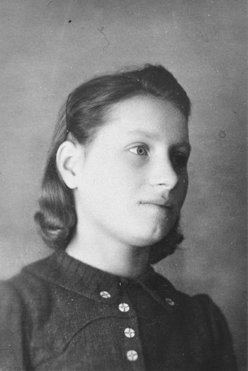 Portrait of a Czech refugee girl named Tatyana, who was living at the Les Grillons children's home in Le Chambon during the German occupation of France.