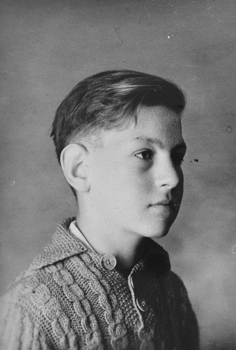 Portrait of a Spanish civil war refugee youth named Juan Manuel, who was living at the Les Grillons children's home in Le Chambon during the German occupation of France.