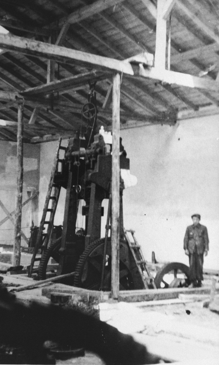 The construction of Oskar Schindler's armaments factory in Bruennlitz.
