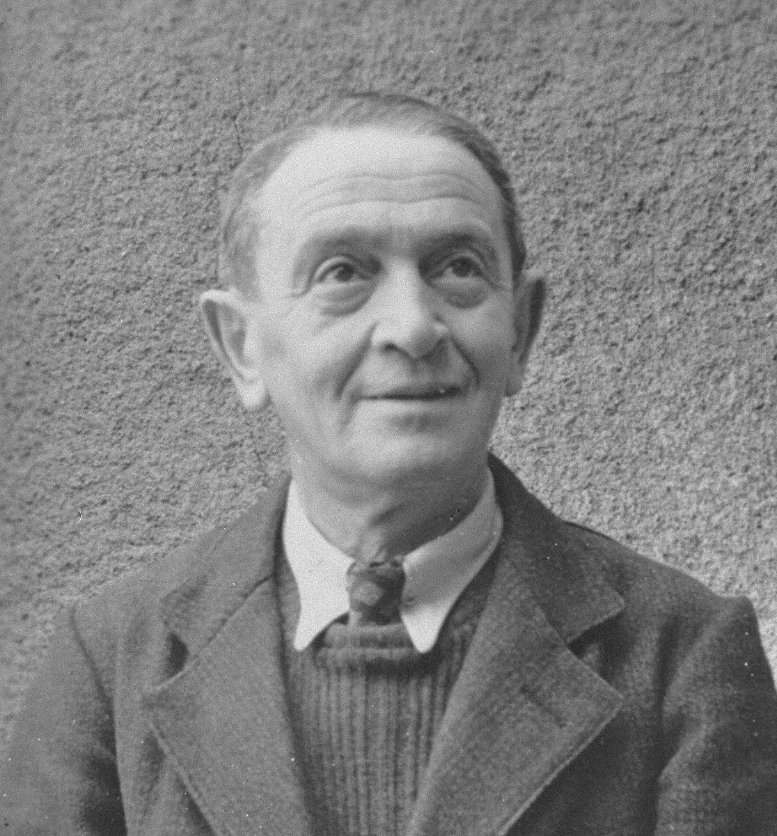 Portrait of the Austrian/German Jew, Ernst Feigl, that was pasted in his son Peter's wartime journal.