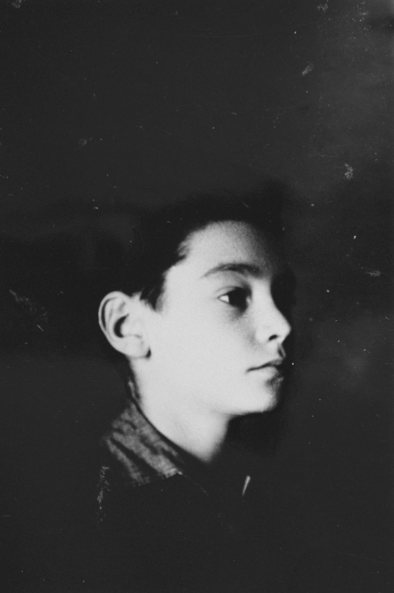 Portrait of an Austrian Jewish boy living in hiding at the Les Grillons children's home in Le Chambon during the German occupation of France.  Pictured is Kurt Grossman.