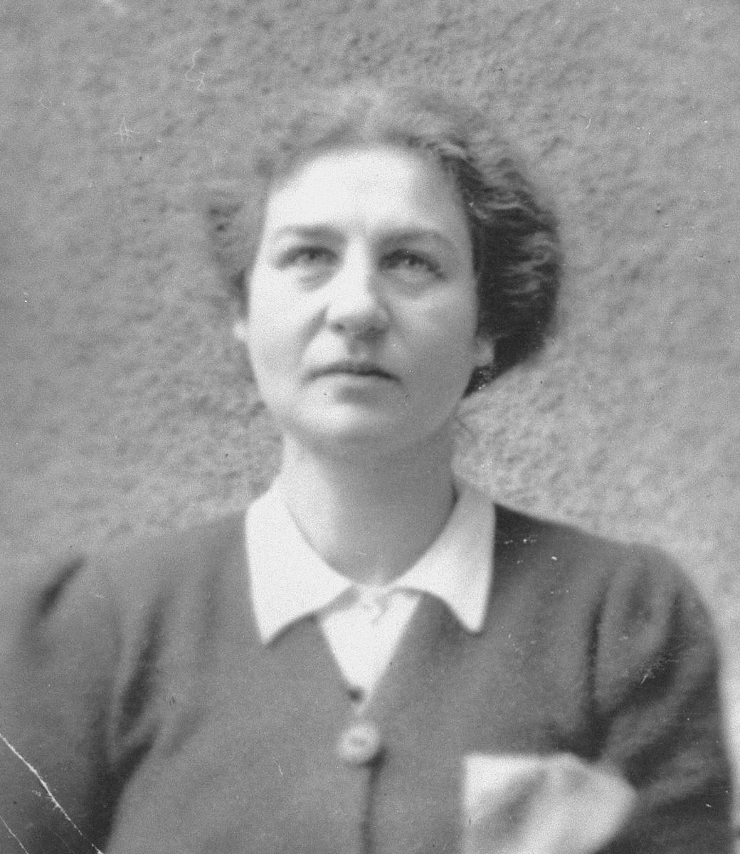 Portrait of the Austrian/German Jewess, Agnes Feigl, that was pasted in her son Peter's wartime journal.