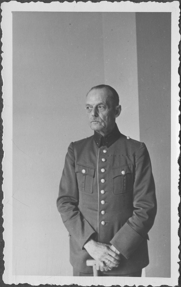 Portrait of German Field Marshall Gerd von Rundstedt at the IMT Nuremberg commission hearings investigating indicted Nazi organizations.