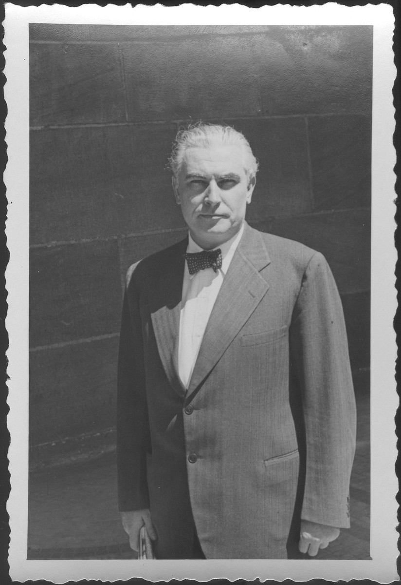 Portrait of Mr. Thomas J. Dodd, American prosecutor at the IMT Nuremberg commission hearings investigating indicted Nazi organizations in the absence of Justice Jackson.