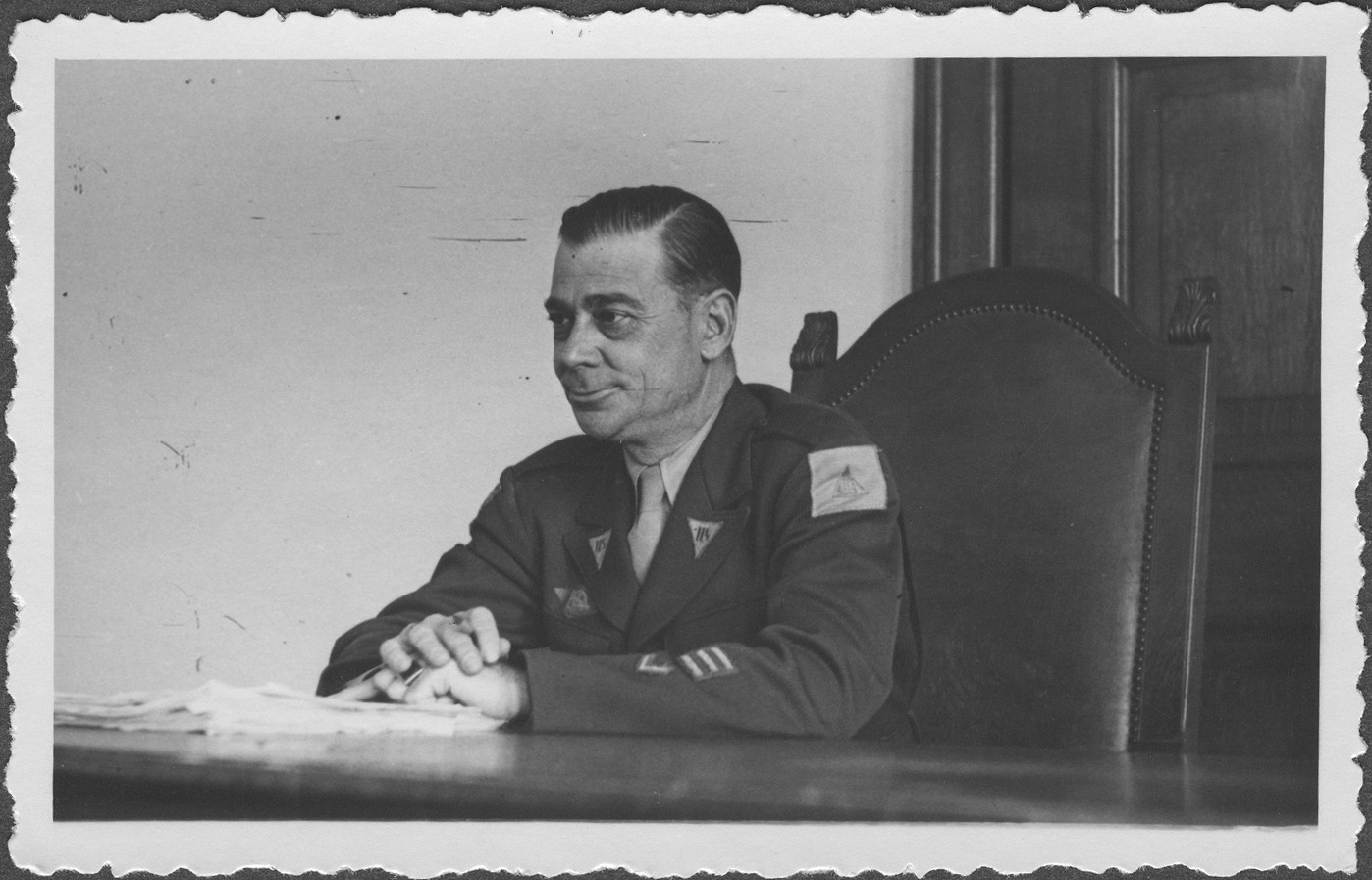 Portrait of Col. Taylor, a commissioner at the IMT Nuremberg commission hearings investigating indicted Nazi organizations.