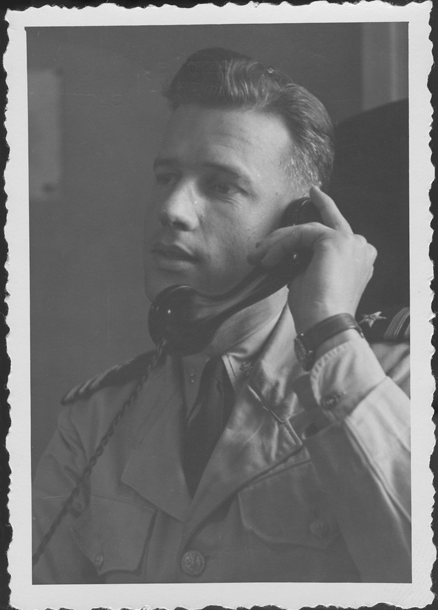 Portrait of Lt. Cdr. Harris, American prosecutor at the commission hearings investigating indicted Nazi organizations.