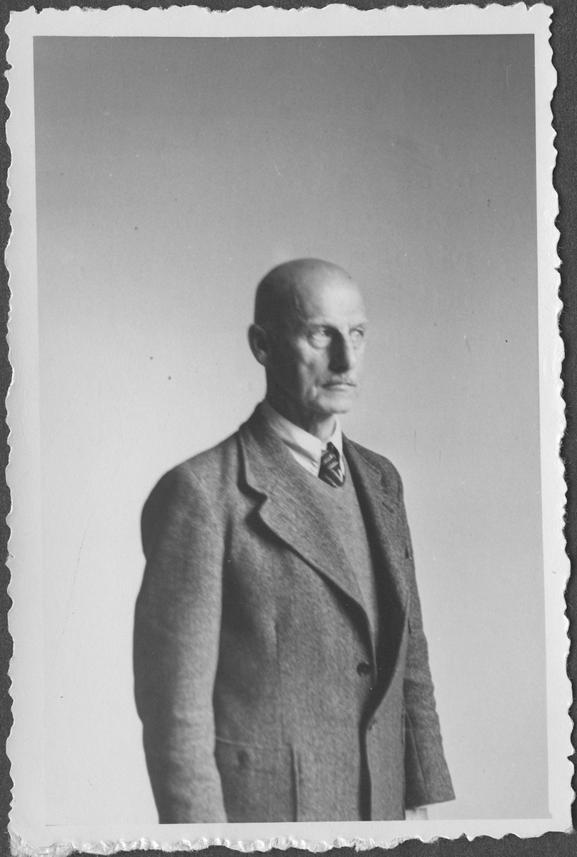 Portrait of Field Marshall Wilhelm Ritter von Leeb taken during a recess in the IMT Nuremberg commission hearings investigating indicted Nazi organizations.