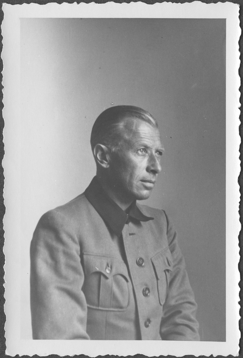 Portrait of German General Adolf Heusinger, former Chief of Army Operations, OKW, at the IMT Nuremberg commission hearings investigating indicted Nazi organizations.
