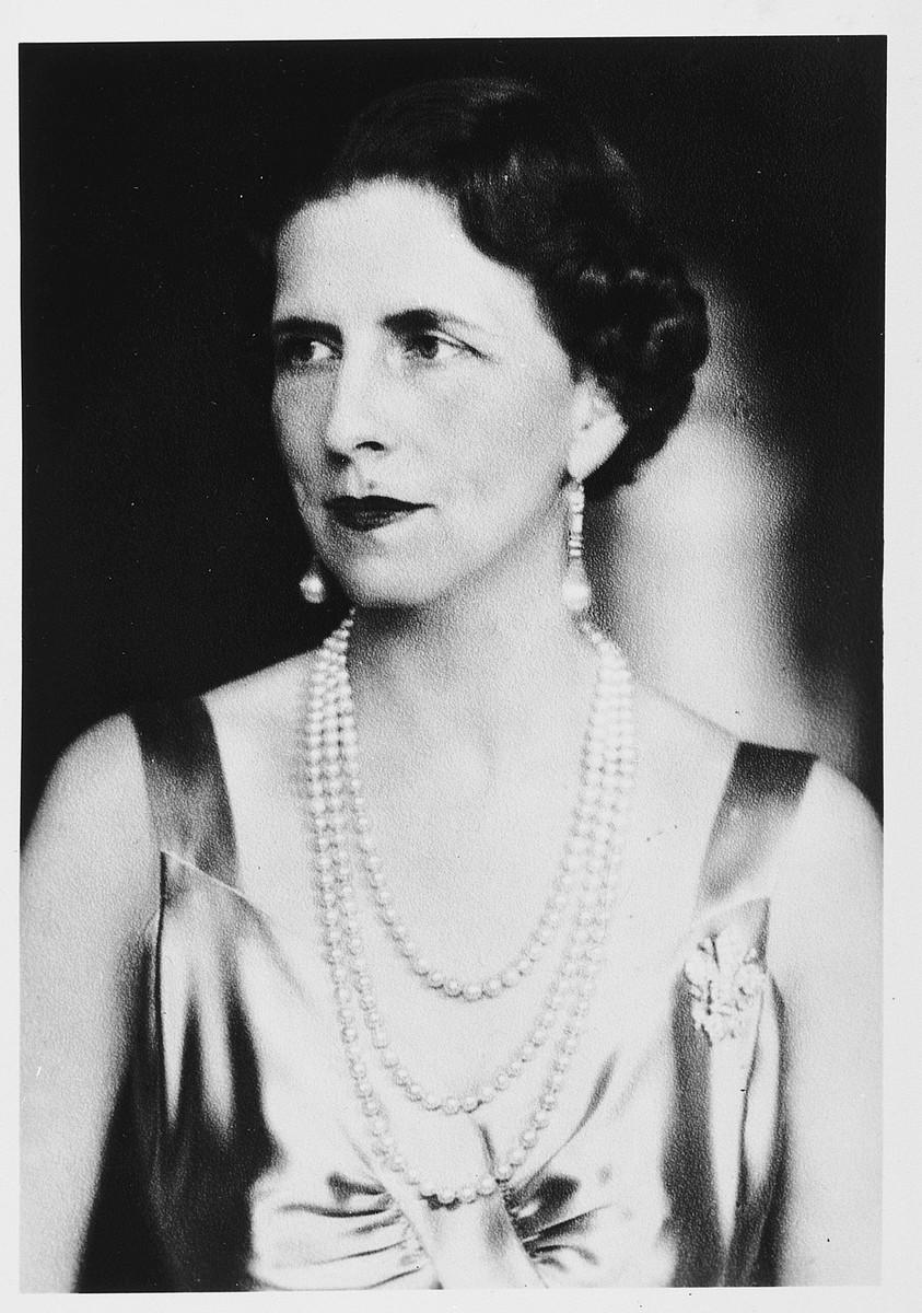 Portrait of Queen Helen of Romania,1896-1982.