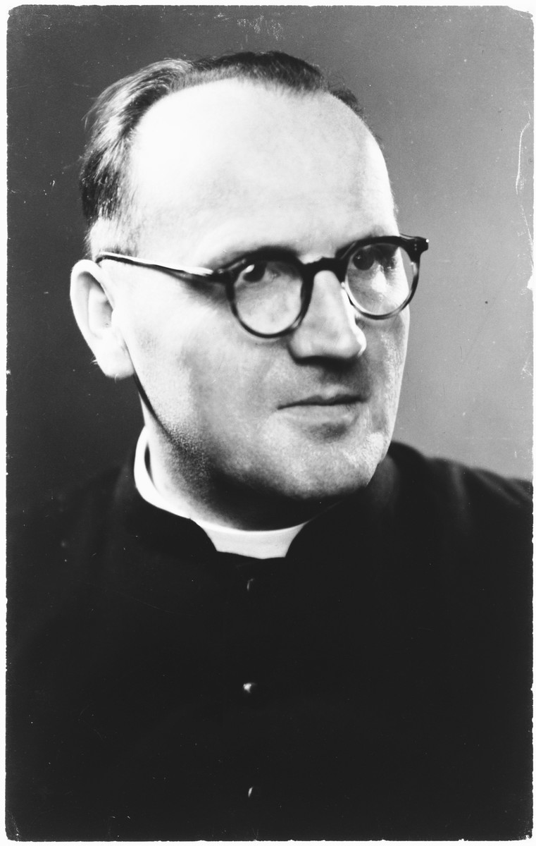 Portrait of Father Louis Celis, Righteous Among the Nations.