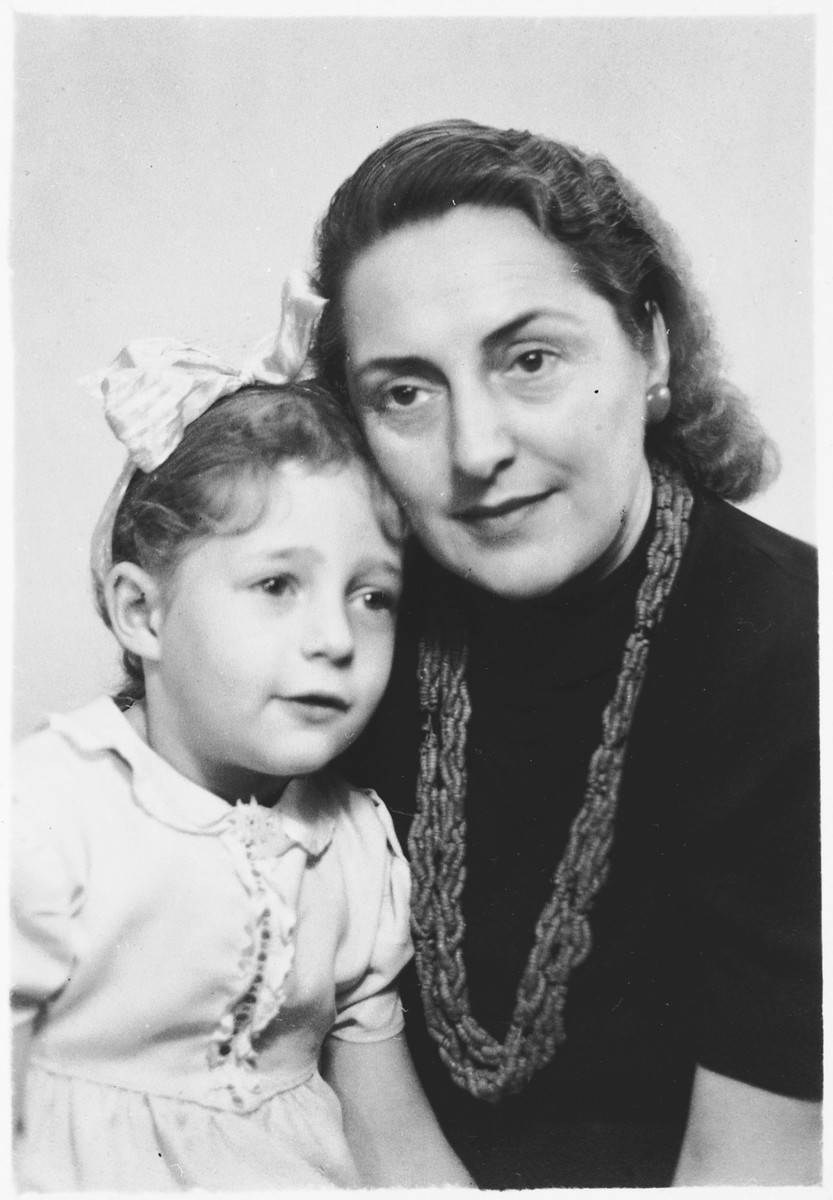 Danute Pomerants poses with her adoptive rescuer mother, Elena Petrauskas, after the war and before their return to Lithuania.