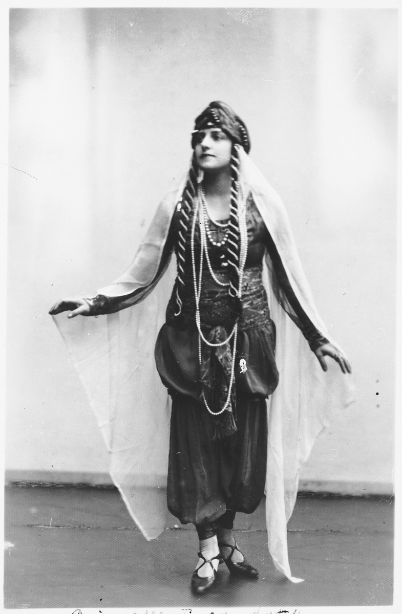 Prewar publicity photograph of rescuer Elena Petrauskas, a well-known stage actress.