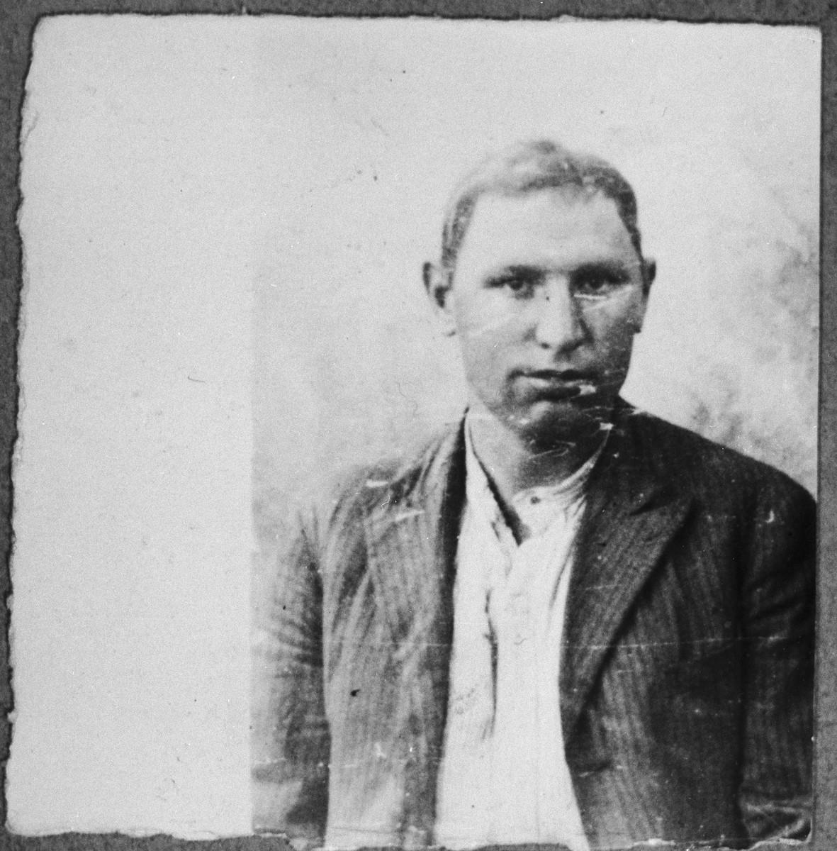 Portrait of Yakov Kamchi, son of Samuel Kamchi.  He lived at Krstitsa 16 in Bitola.