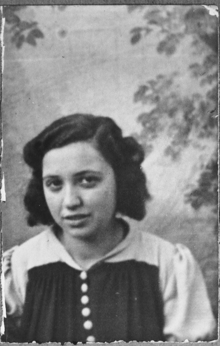 Portrait of Visctoria Kassorla, daughter of Eliau Kassorla.  She lived at Gostivarska 9 in Bitola.