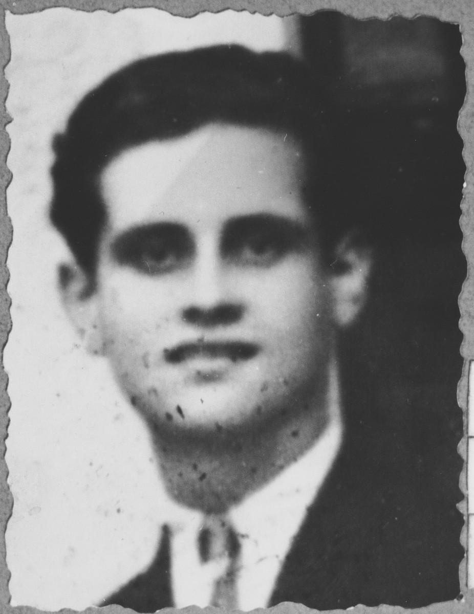 Portrait of Avram Kamchi, son of Shabetai Kamchi.  He lived at Sinagogina 4 in Bitola.