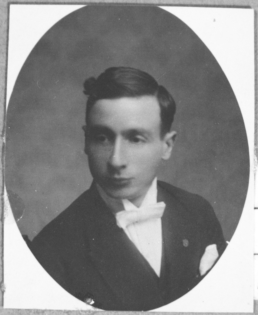 Portrait of Yakov Kassorla, son of Rafael Kassorla.  He was a tailor.  He lived on Zvornitska 20 in Bitola.
