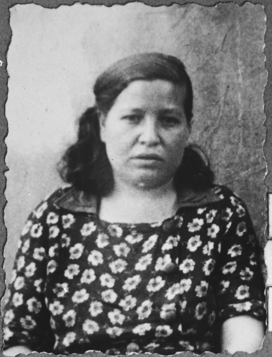Portrait of Palomba Katan, wife of Solomon Katan.  She lived at Karagoryeva 95 in Bitola.