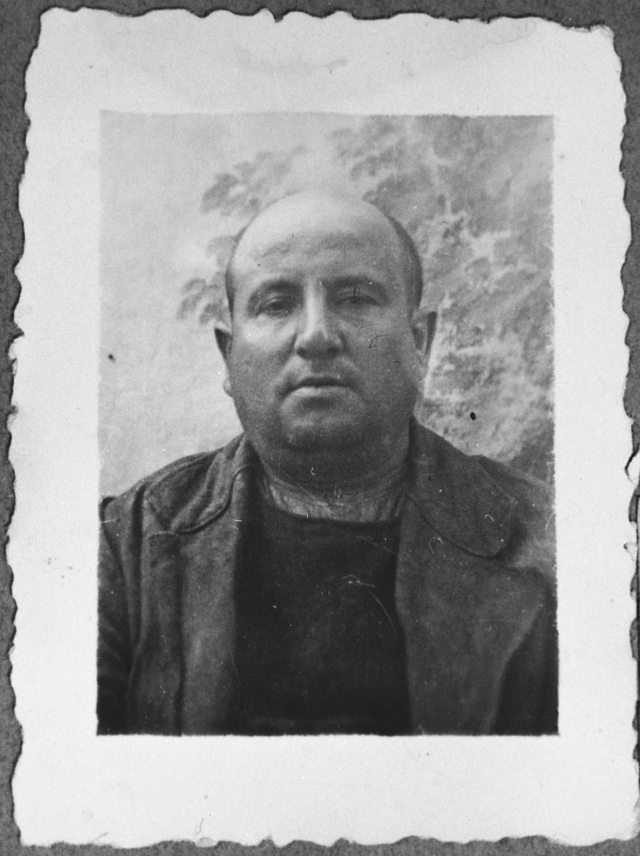 Portrait of Haim Kassorla.  He was a second-hand dealer.  He lived at Avliya 9 in Bitola.