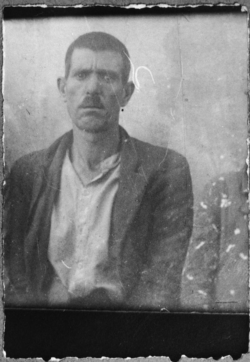 Portrait of Gabriel Kassorla.  He was a porter.  He lived at Skopyanska 118 in Bitola.