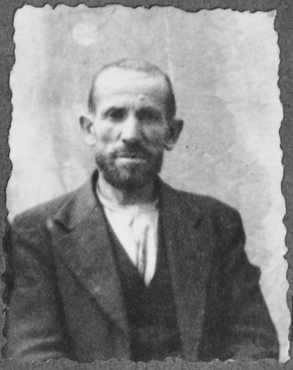 Portrait of Shua Kassorla, son of Mair Kassorla.  He was a second-hand dealer.  He lived at Mitrovatska 12 in Bitola.
