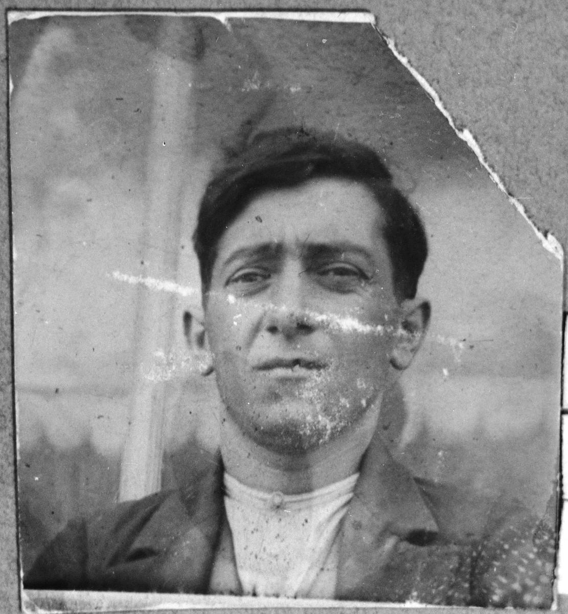 Portrait of Yakov Kassorla, son of Mushon Kassorla.  He lived at Mitrovatska 3-5 in Bitola.