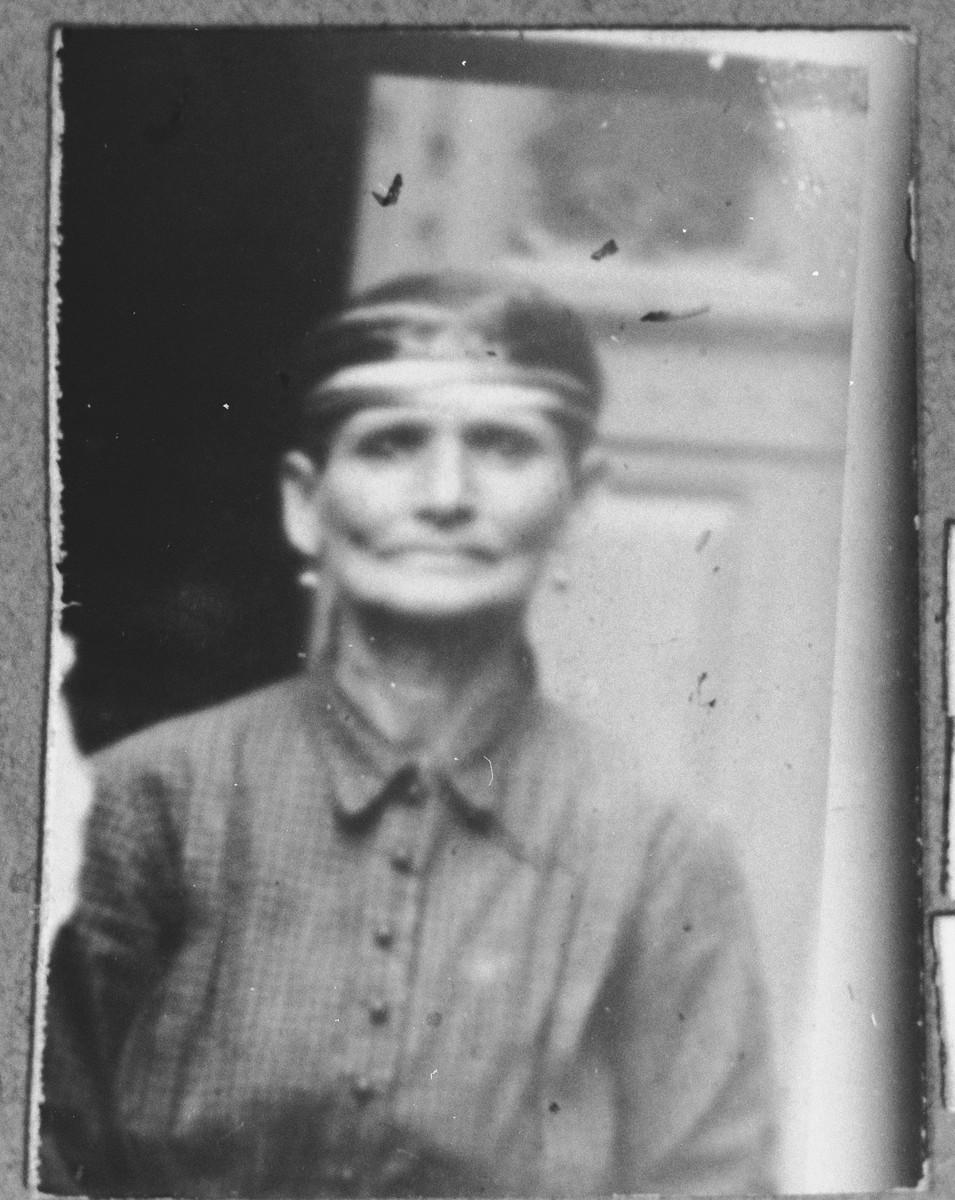 Portrait of Naum Kassorla.  She lived on Sremska in Bitola.