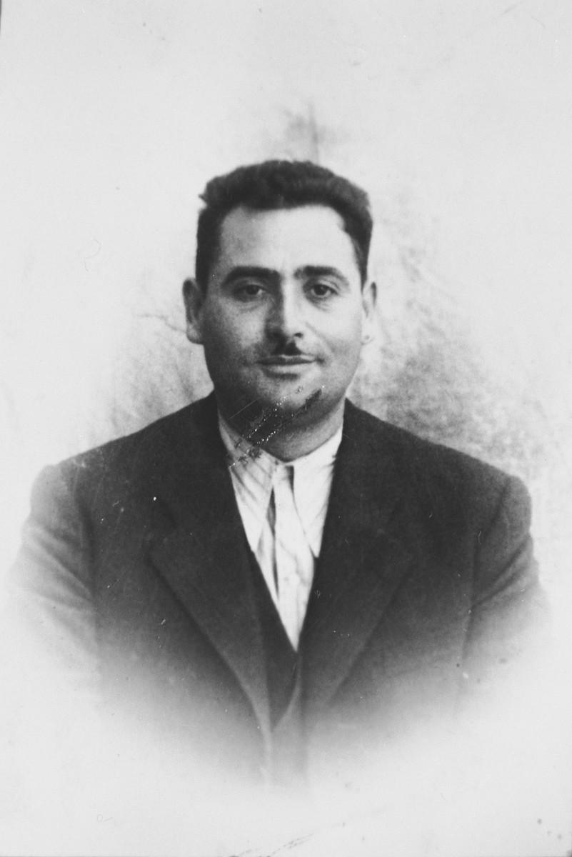 Portrait of Isak Massot, son of Avram Massot.  He was a fruit merchant.  He lived at Zmayeva 16 in Bitola.