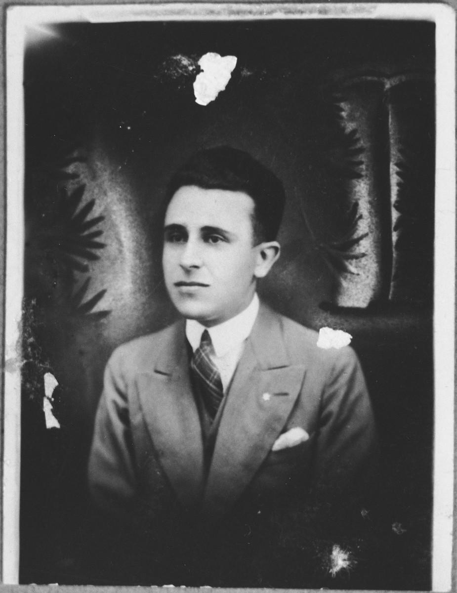 Portrait of Mois (I.) Kassorla.  He lived at Karagoryeva 52 in Bitola.