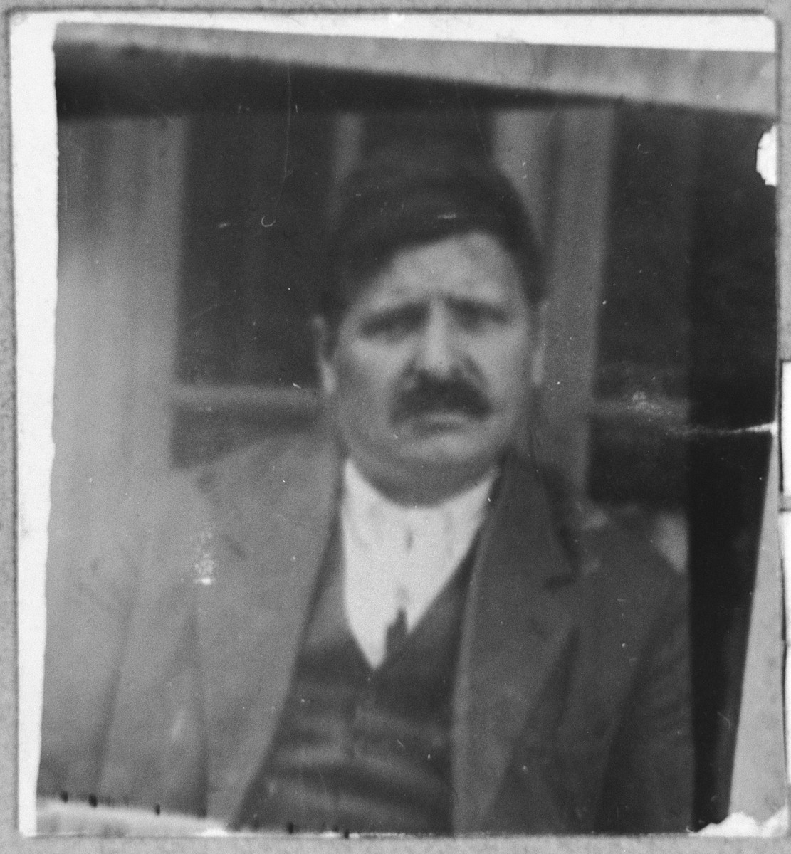 Portrait of Avram (M.) Massot.  He was a fruit merchant.  He lived at Zmayeva 16 in Bitola.
