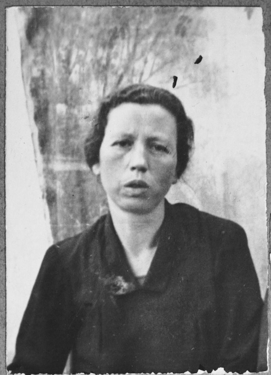 Portrait of Sol Kassorla, wife of Eliau.  She lived at Gostivarska 9 in Bitola.