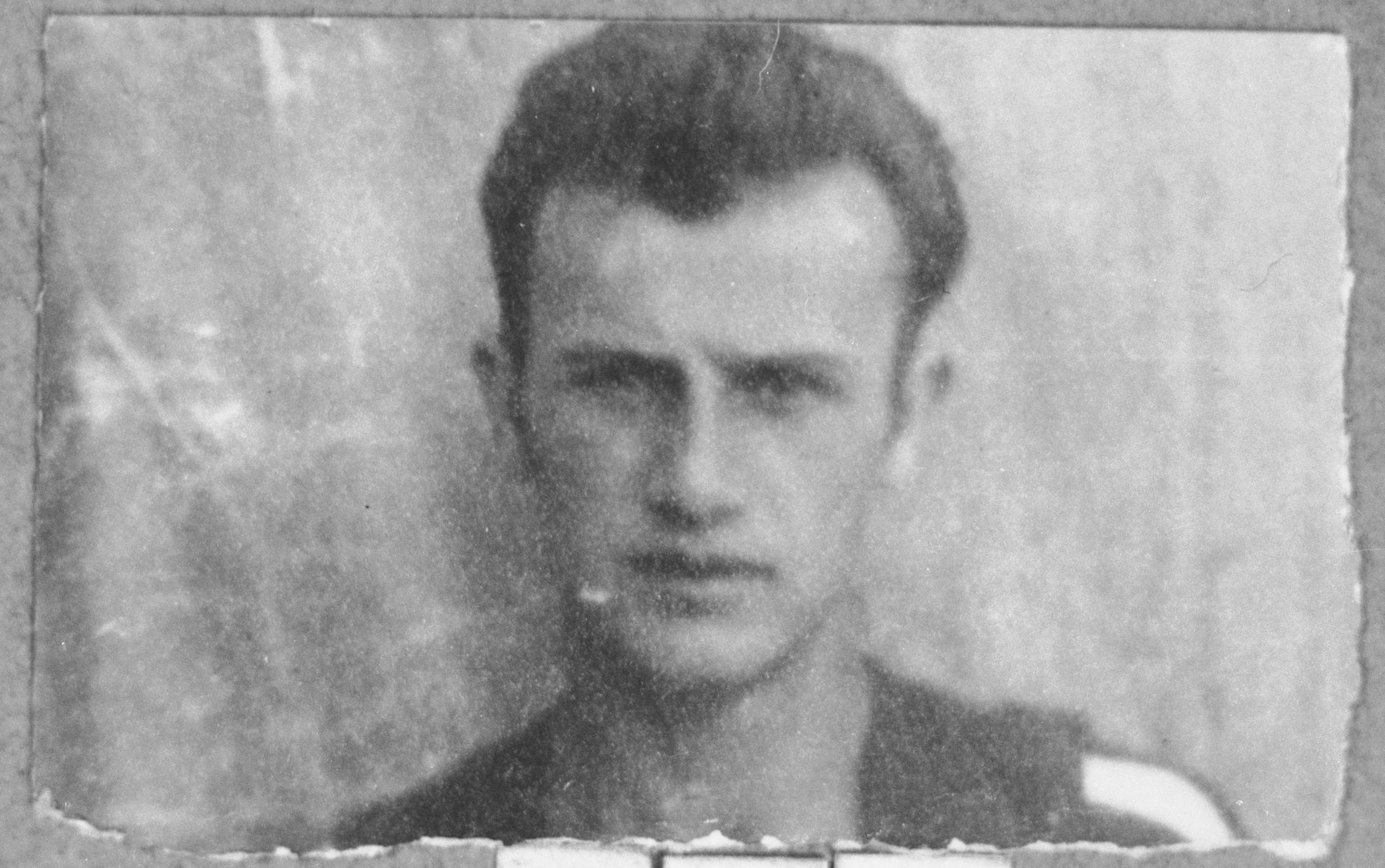Portrait of Gabriel Levi, son of Todoros Levi.  He was a student.  He lived at Drinska 111 in Bitola.