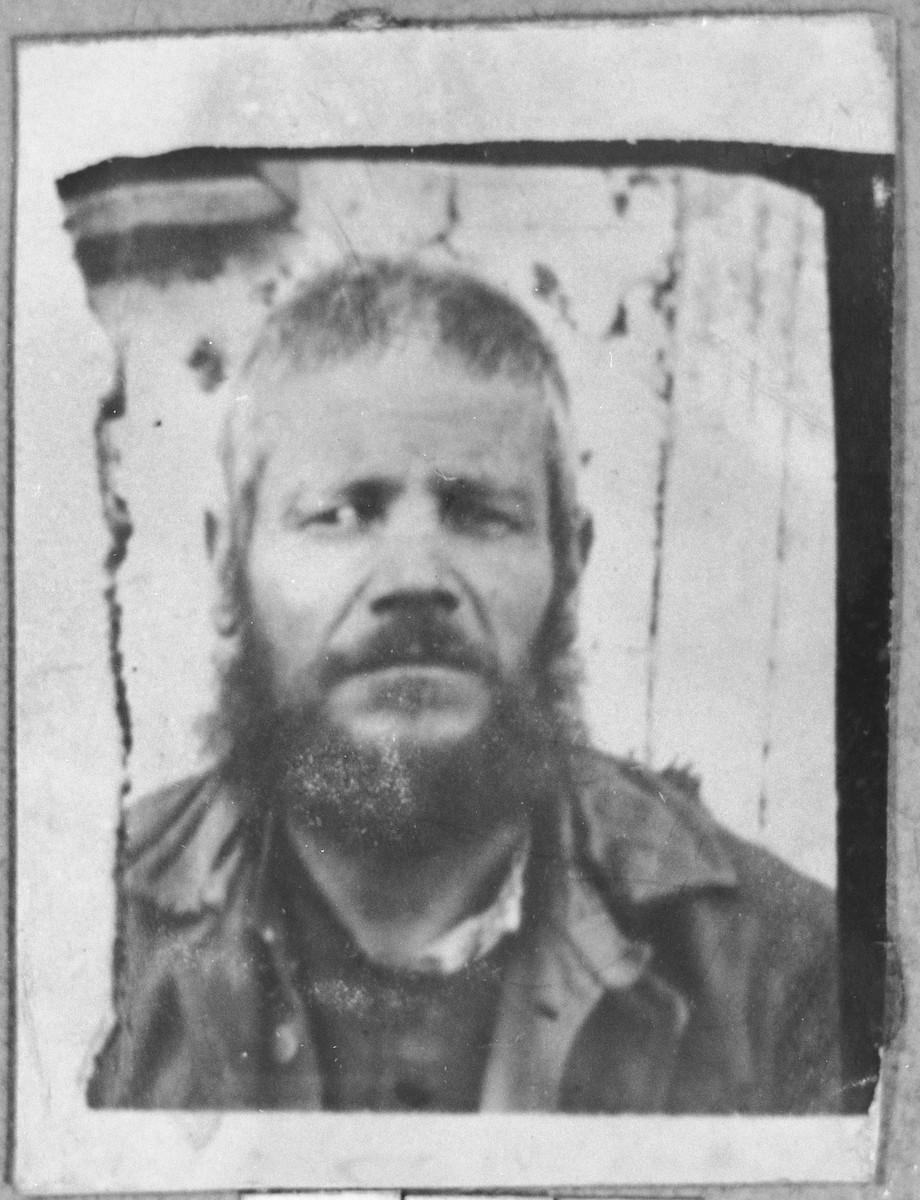 Portrait of Sava Levi.  He lived at Zmayeva 10 in Bitola.