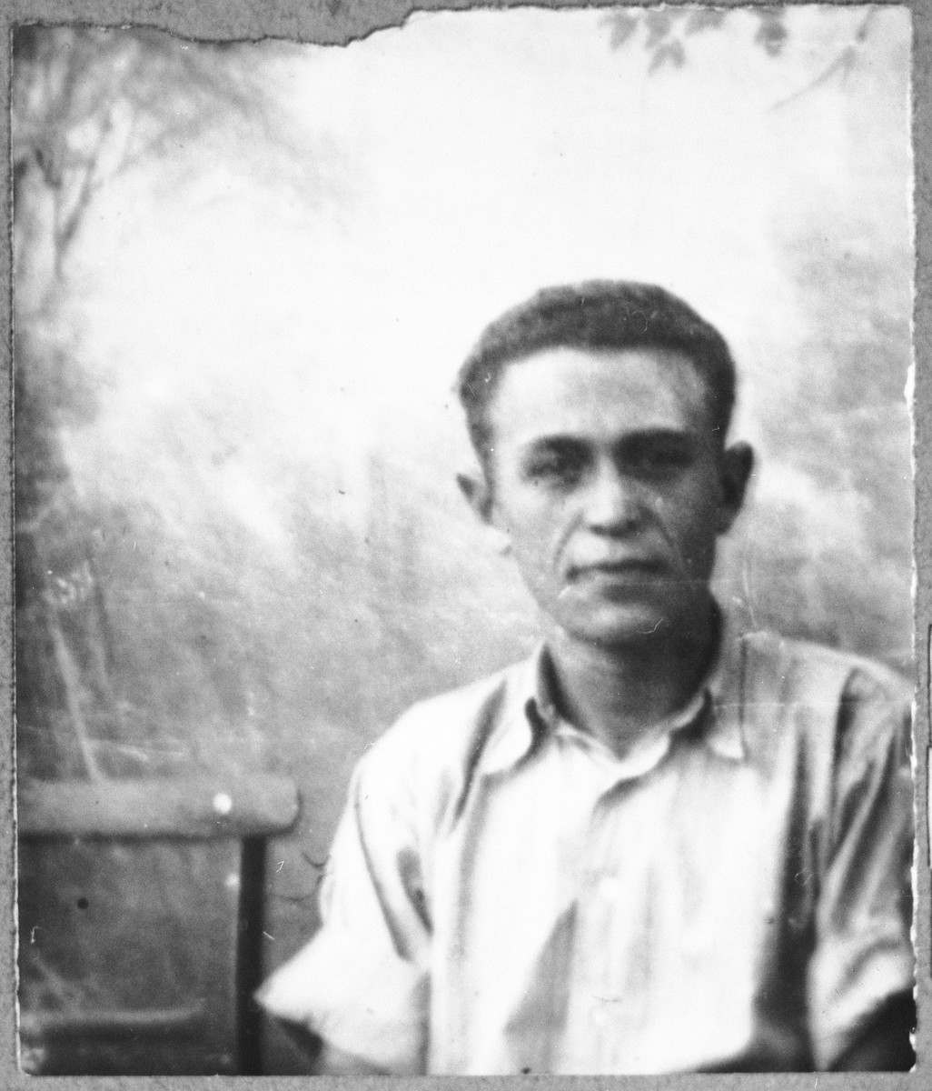 Portrait of Schua Kamchi, son of Todoros Kamchi.  He was a student.  he lived at Zmayeva 17 in Bitola.