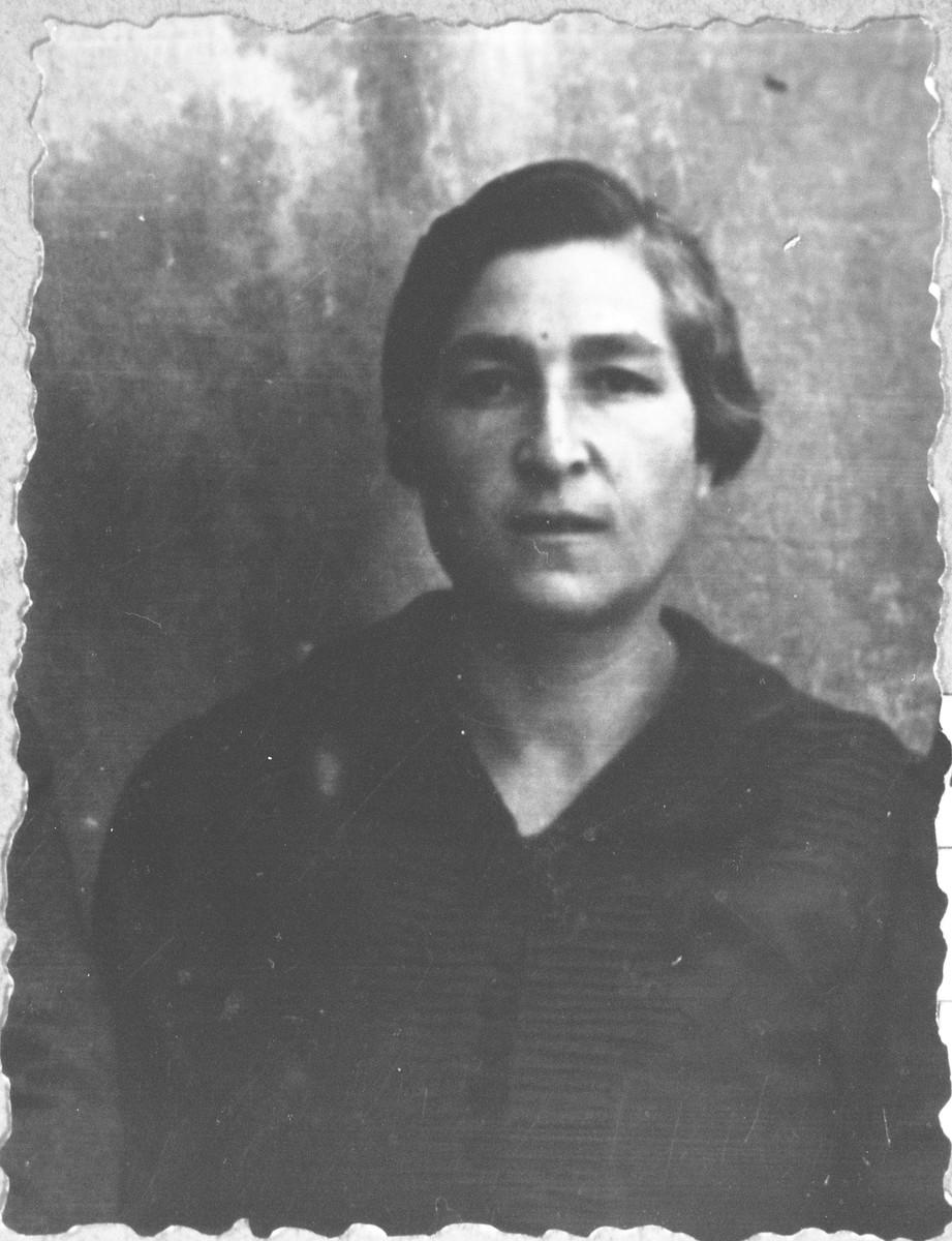 Portrait of Sara Kassorla, wife of Eliau Kassorla.  She lived at Drinkska 81 in Bitola.