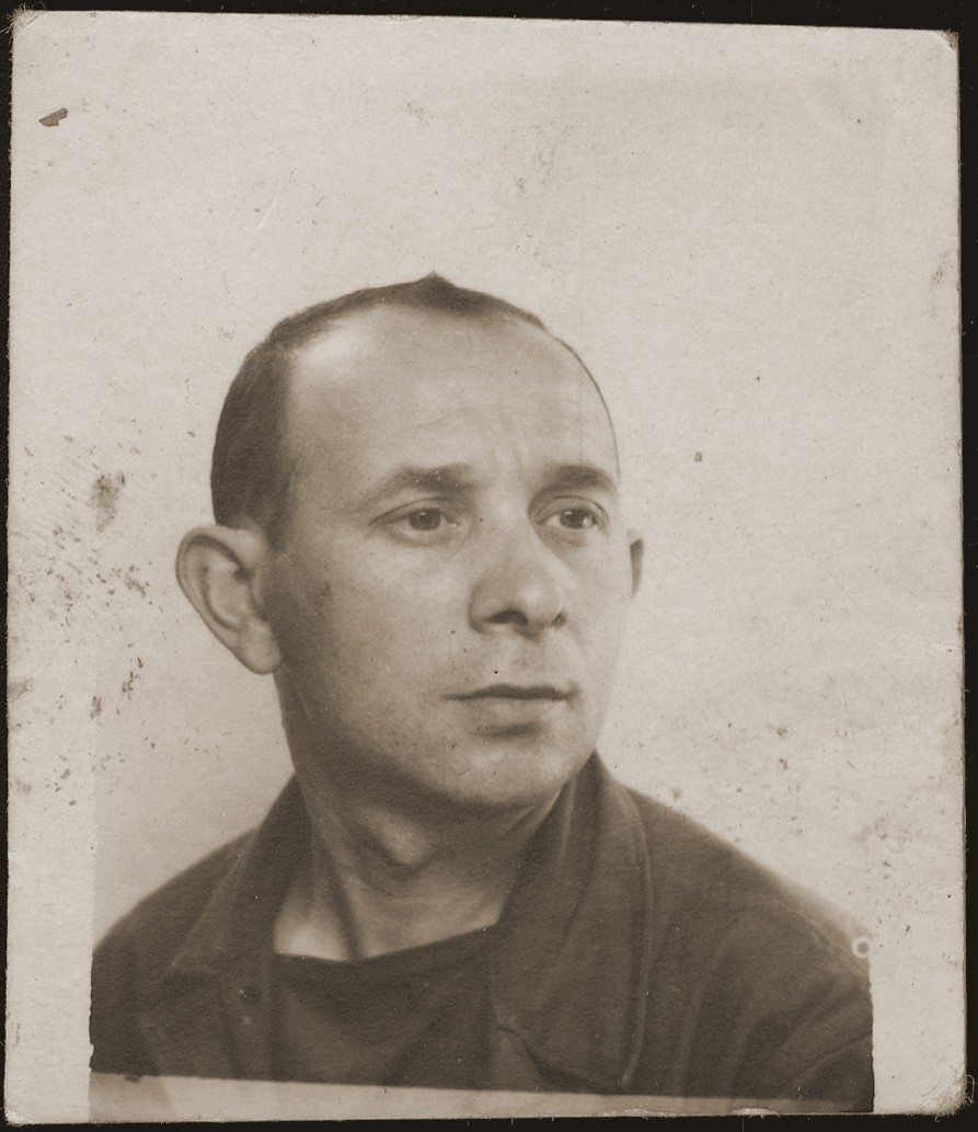 Portrait of Victor Jakubowicz, the donor's brother.  This photograph was taken immediately after his release from a concentration camp.