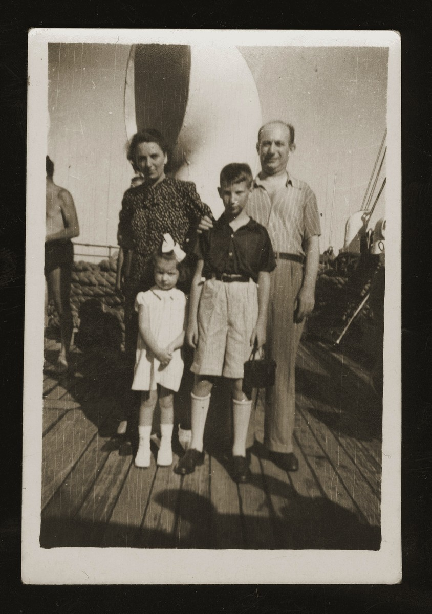 The Wacs family en route to Shanghai on board the Conte Biancamano.